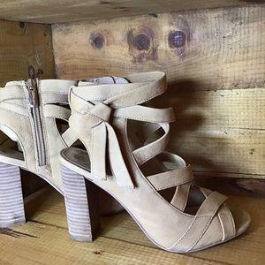 BOHO Chunk Heels W/Ankle Strap WMS SIZE 6